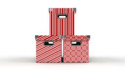 pudełka trzy Obraz Stock
