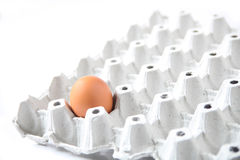 pudełko łamający kurczaka jajka wśrodku yolk Obraz Stock
