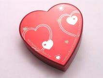 pudełko 2 serc valentines słodyczy Fotografia Royalty Free