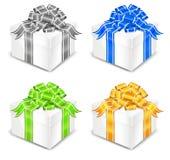 pudełko biel cztery royalty ilustracja