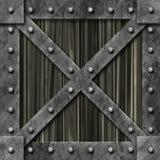 pudełko blokujący metal silny royalty ilustracja