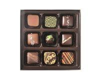 Pudełko czekoladowi cukierki zdjęcia stock