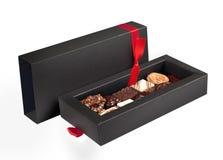 Pudełko czekoladowi cukierki fotografia royalty free