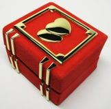 Pudełko dla pierścionku zdjęcia royalty free