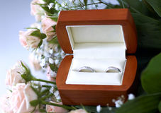 pudełko dzwoni ślub Obrazy Royalty Free
