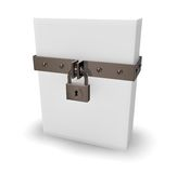Pudełko i kłódka Obraz Stock