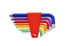 pudełko innego zestawu plastikowy śrubokrętów narzędzia Zdjęcie Royalty Free