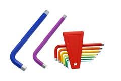 pudełko innego zestawu plastikowy śrubokrętów narzędzia Obrazy Stock