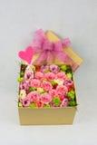 Pudełko kwiaty Zdjęcie Stock