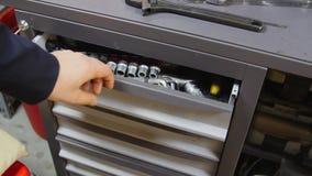 Pudełko narzędzia dla samochodu lub moto naprawy obraz stock