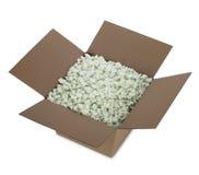 pudełko odizolowywająca otwarta wysyłka Zdjęcie Stock