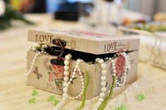Pudełko Perły Zdjęcia Stock