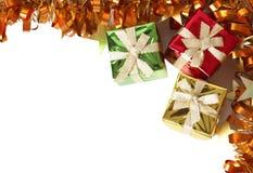 pudełko prezenta kolorowy tworzy ramowy świecidełko Zdjęcie Royalty Free