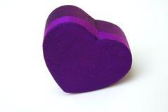 pudełko prezentu fioletowy silk thai zdjęcie stock