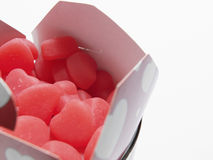 Pudełko serce Kształtni cukierki Obrazy Royalty Free