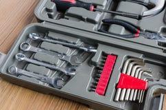 Pudełko set metali pracujący narzędzia Obrazy Stock