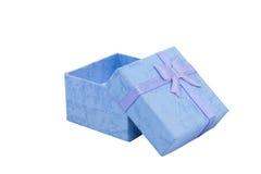 pudełko tła prezentu czerwony tasiemkowy wiążące w bieli Fotografia Royalty Free
