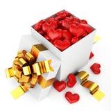 pudełko wypełnione serce otwarte Fotografia Royalty Free