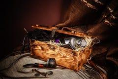 Pudełko z drymbą Zdjęcia Stock
