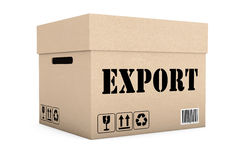 Pudełko z eksporta znakiem Fotografia Royalty Free
