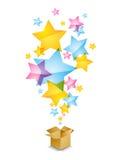 Pudełko z gwiazdami Zdjęcie Stock