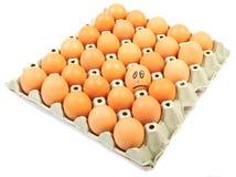 Pudełko z jajkami Obraz Royalty Free