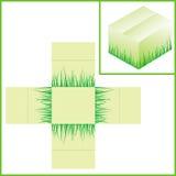 Pudełko z trawą Obraz Stock