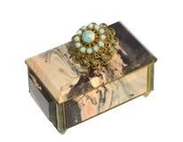 Pudełko zrobi piękny kamień Zdjęcia Royalty Free