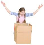 pudełkowaci dziewczyny pudełkowaty mali spojrzenia Zdjęcia Stock