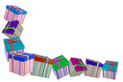 pudełkowaci kolorowi prezenty Zdjęcia Royalty Free