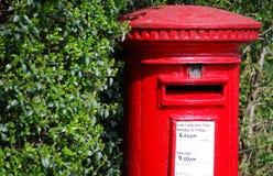 pudełkowata czerwony pocztę Zdjęcia Stock