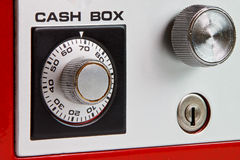 pudełkowata gotówkowa czerwień fotografia stock