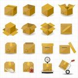 Pudełkowata i pakunek ikona Obrazy Stock