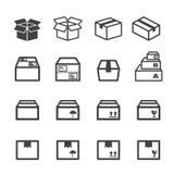 Pudełkowata ikona Zdjęcie Stock