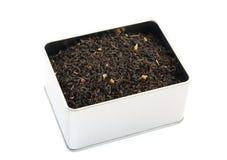 pudełkowata liść herbaty cyna Obrazy Stock