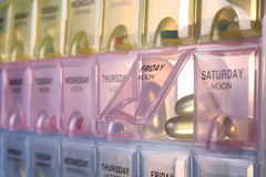 pudełkowata pigułka Fotografia Stock