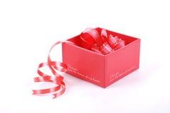 pudełkowata prezent czerwień obrazy stock