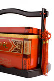 pudełkowata prezent czerwień Obraz Royalty Free