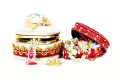 pudełkowata prezenta biżuterii zabawka fotografia stock