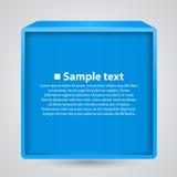 Pudełkowata sztandar informacja Obraz Stock