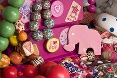 pudełkowate broszki szczegółu słonia biżuterii menchie Zdjęcia Royalty Free