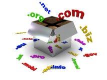 pudełkowate domeny ilustracja wektor