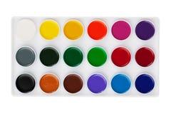 pudełkowate różne ustalone akwarele Zdjęcie Stock