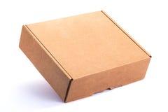 pudełkowatego kartonu odosobneni cienie biały Fotografia Royalty Free
