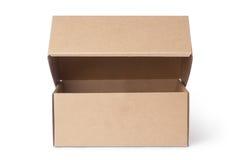 pudełkowatego kartonu odosobneni cienie biały Obraz Royalty Free