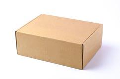 pudełkowatego kartonu odosobneni cienie biały Zdjęcie Stock