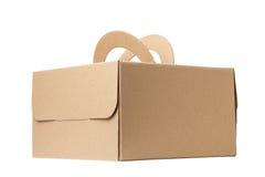 pudełkowatego kartonu odosobneni cienie biały zdjęcia stock