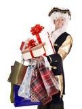 pudełkowatego kostiumowego prezenta mężczyzna stary zakupy Zdjęcia Stock
