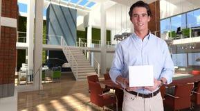 pudełkowatego mężczyzna nowożytni biurowi potomstwa zdjęcia royalty free