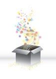 pudełkowatego prezenta magiczna niespodzianka Obraz Royalty Free